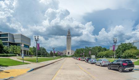 Storm clouds gathwering over Baton Rouge, LA