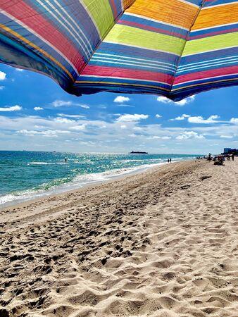 The golden sands of Fort Lauderdale beach, Florida
