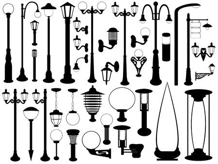lampposts: Luces de la calle Vectores