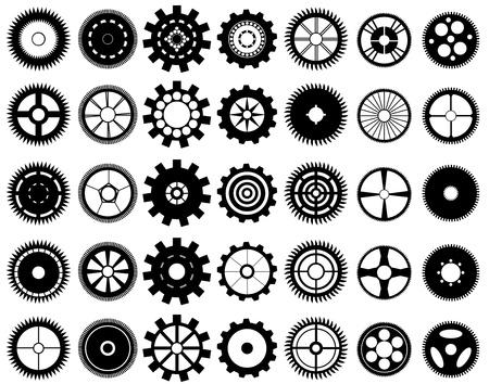 mechanical symbols: Gear wheels
