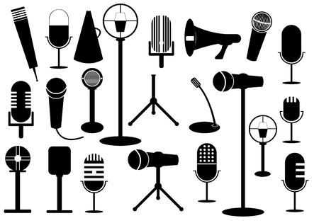 Microphone collection  Illustration