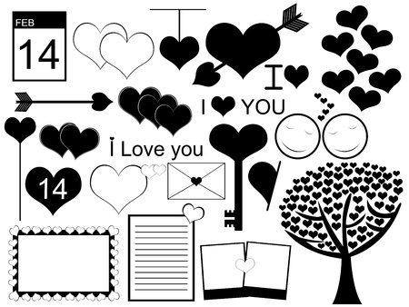 Valentine s day  collage Vector