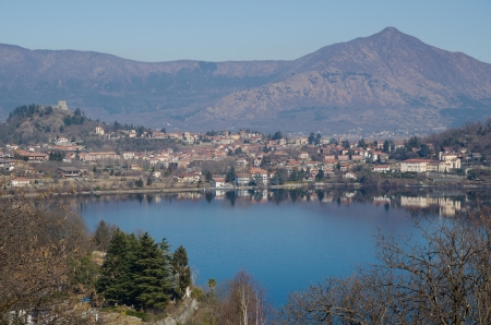Lake Avigliana in Susa Valley photo