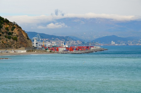 The commercial port of Vado Ligure photo