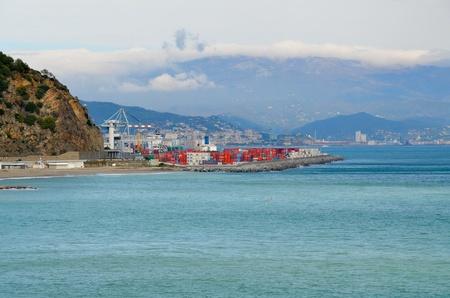 The commercial port of Vado Ligure photo