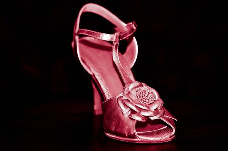 Pink heeled sandal photo