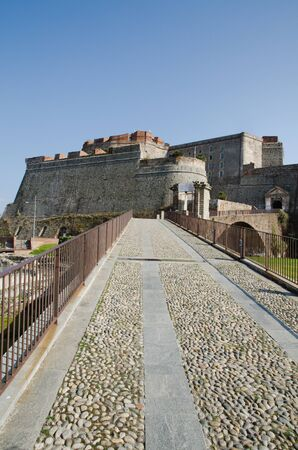 view of Priamar fortress of Savona photo