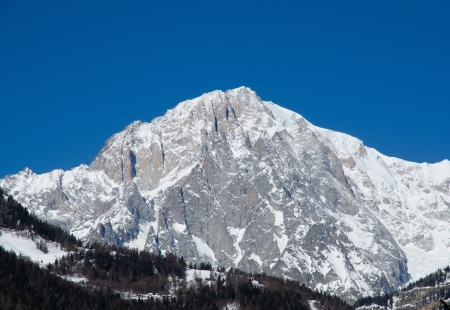 The Mont Blanc seen from Courmayeur photo