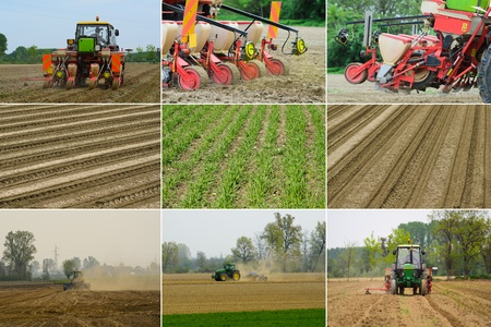 seed drill: Agriculture Stock Photo