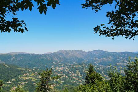 genoa: Ligurian hills near Genoa Stock Photo