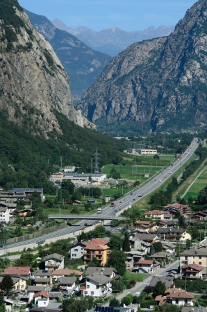 aosta: The entrance to Valle d Aosta