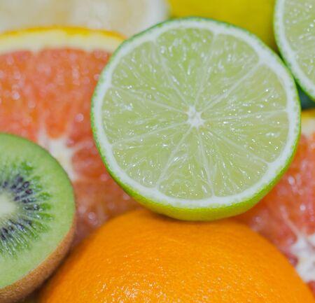 rutaceae: Citrus fruits Stock Photo
