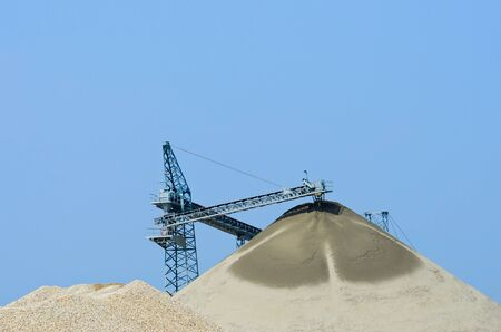 aggregates: Quarry sand and gravel Stock Photo