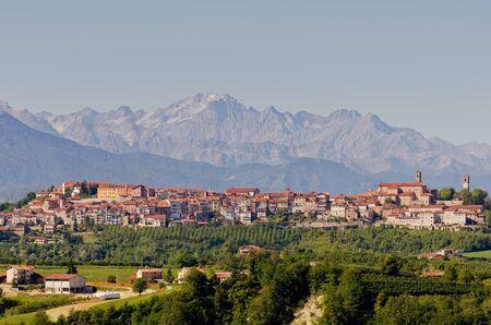 Mondovì and the Alps Stock Photo - 15517992