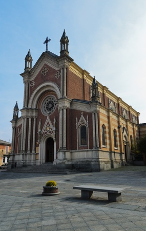 saluzzo: Cathedral of St  Peter in Bagnolo Piemonte  CN   Stock Photo