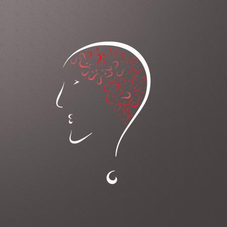 enfermedades mentales: Misterios del cerebro Foto de archivo