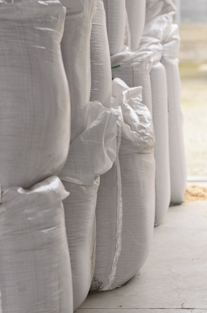 chemical fertilizer: Bags of fertilizer Stock Photo
