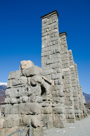 Roman Theatre in Aosta - 25 B C   Valle d Aosta  - Italy Stock Photo - 18460509