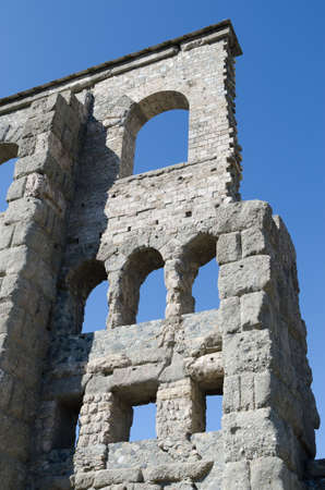 Roman Theatre in Aosta - 25 B C   Valle d Aosta  - Italy Stock Photo - 18460516