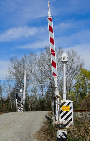Level crossing Stock Photo - 18690337