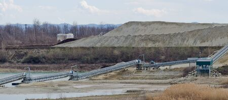 Quarry for the extraction of sand and gravel photo