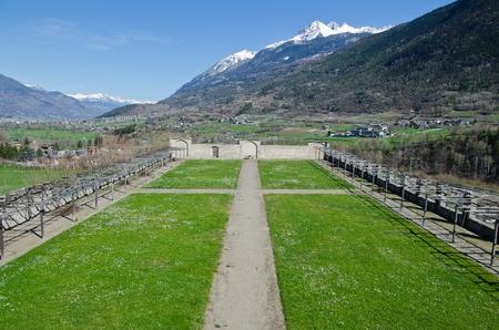 aosta: Sarre Royal Castle - Aosta Valley Stock Photo