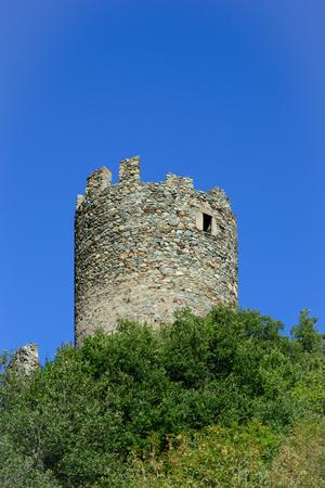 aosta: Brissogne castle - central keep - Aosta Valley-Italy