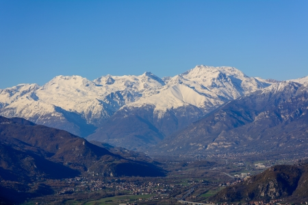 bordering: The Susa Valley and Italian Alps bordering France - Piedmont - North Italy