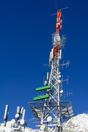 electromagnetism: Radio antennas Stock Photo