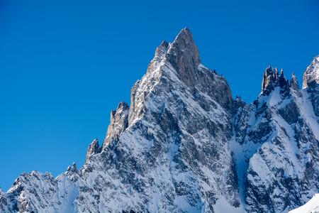 noire: Aiguille Noire de Peuterey - 3773 m a s l  Mont Blanc - Northern Italy Stock Photo