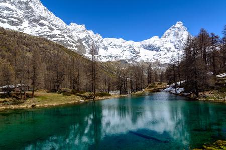 aosta: Lake Layet also said Blue Lake - Valtournenche - Aosta Valley - Italy