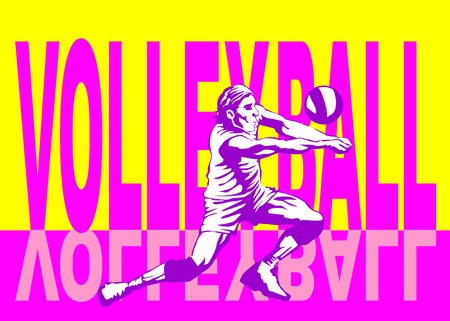 volley ball: Conceptual illustration about volley ball  Poster for amateur voley ball championship