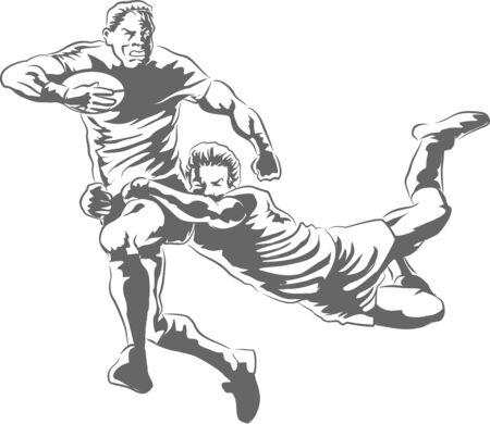 Inglés Acción Rugby, una mano se extiende en la desesperación como sprints hacia delante de la línea