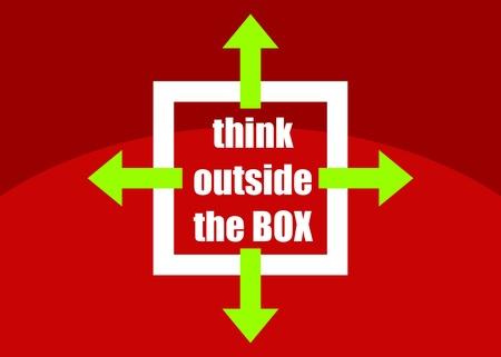 unconventional: Pensare fuori dagli schemi - concetto di pensiero diverse o non convenzionali abbozzato presentato in un poster
