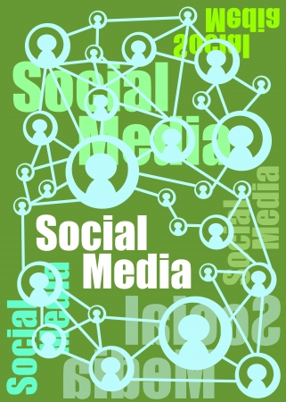 Social Media illustration and concept representation in a poster Stock Vector - 21016971