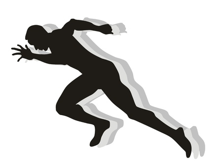 sprint: An athlete ready to start.