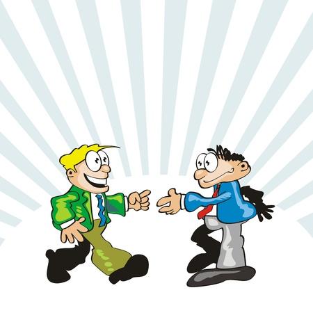 encounter: Un incontro inaspettato con un vecchio amico. Salutando un conoscente.