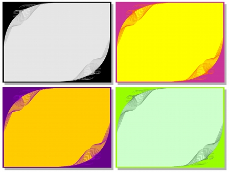 transcend: Set from four individual backgrounds. Or composition for use as a decorative pattern.