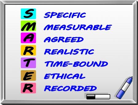 smart goals: Smarter mnemonic concept Illustration