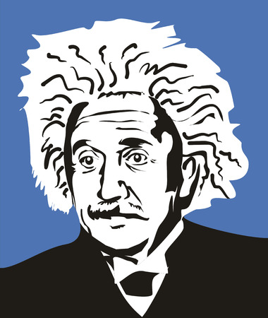 Albert Einstein, de beroemde wetenschapper en auteur van de relativiteitstheorie.