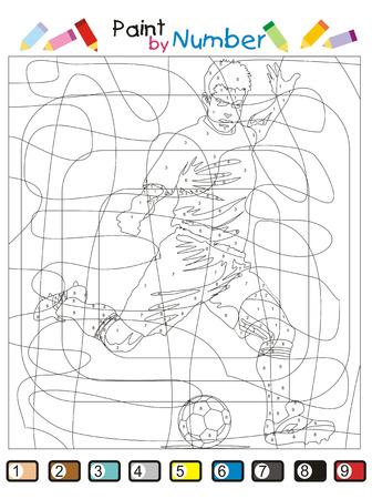 Un juego divertido y didáctico para niños: Pinta las áreas con el color que indica el número. Y descubrir la figura oculta.