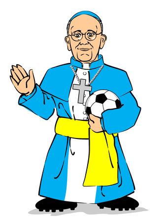 아르헨티나의 추기경 호르헤 마리오 Bergoglio 이름 교황 프랜시스와 새로운 교황이 될 것입니다. 시스 티나 예배당에 가두 백 십오 추기경은 새 교황이