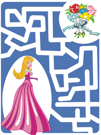 Maze Game for girls: Help the princess to find a way to bouquet of flowers!