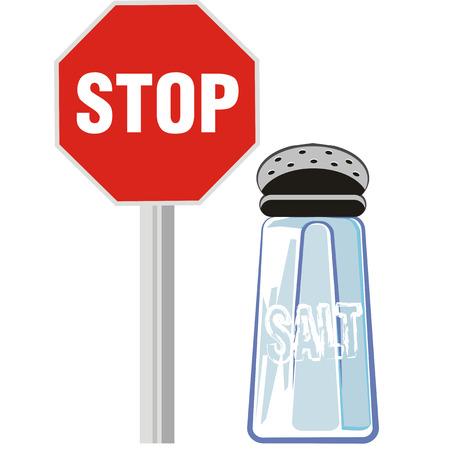 Dieta sana y sin el uso de sal en sus comidas.