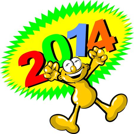 Congratulations came the new year 2014 Vector