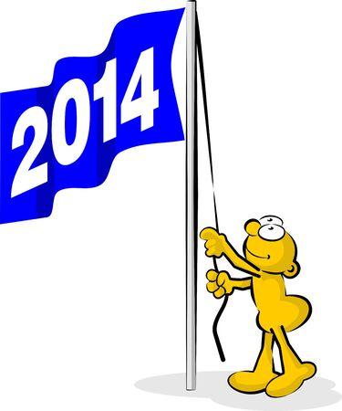 felicity: New Year 2014 flag hoisted