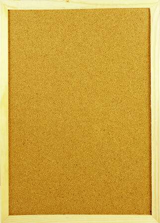 Empty cork board in a vertical position, ready for you to put your message  Stockfoto