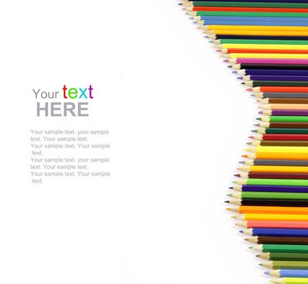 Color Pencils frame. Back to school concept. photo