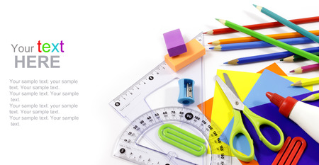 School and stationery objects