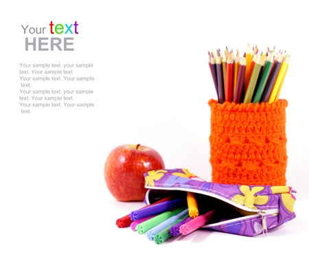 School and stationery objects photo